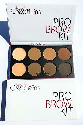 Beauty Creations PRO Brow Eyebrow Kit 6 Powder 1 Wax 1 Concealer