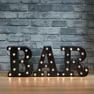 BAR - Illuminated Marquee Bar Sign - Lighted LED Marquee Word Sign - Pre-Lit