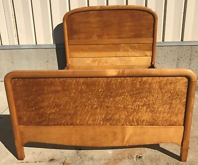 Full Size Birdseye Maple Bed with headboard, footboard & pair of side rails