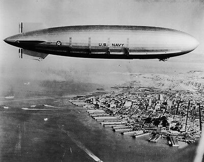 New 8x10 Photo: USS Akron over San Francisco, Airship of the United States Navy