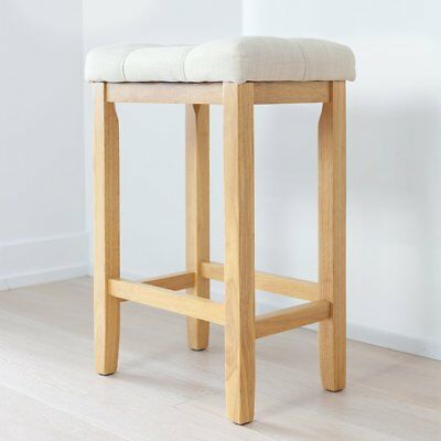 Marvelous Wood Kitchen Counter Barstool Backless Upholstered Saddle Gmtry Best Dining Table And Chair Ideas Images Gmtryco