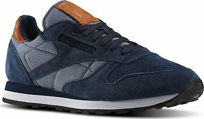 58d9bc9f837 REEBOK CLASSIC LEATHER Chambray Mens Trainers BD1664 Shoes Size 6 to ...