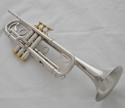 TOP Professional Jinbao silver nickel plated Bb Trumpet Horn NEW case