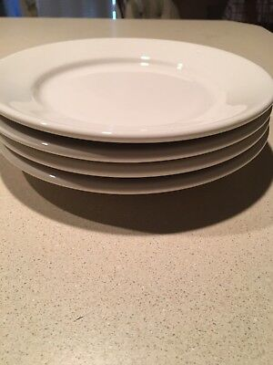 BUFFALO CHINA RESTAURANT WARE WHITE DINNER PLATES MARKed 506a & 506b Set Of 4