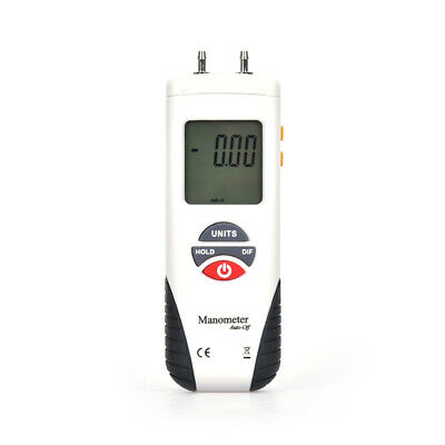 LCD Digital Manometer Differential Gauge Air Pressure Meter Backlight ±2Psi