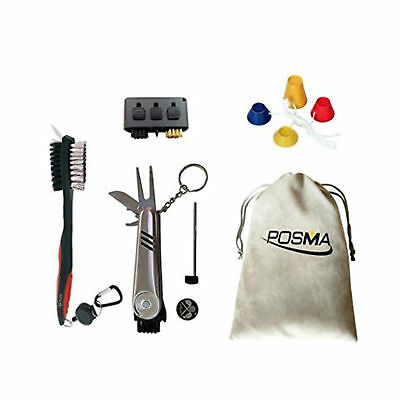 POSMA Master Golf Cleaner Kit Set Golfers Cleaning Club Brush Groove Cleaner