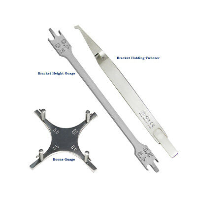 Dental Orthodontics Bracket Height Guage Boone Gauge Direct Bond Bracket Tweezer