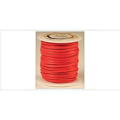 """Tandy Leather Deerskin Lace 1/8"""" x 50 Ft Red 5067-08"""
