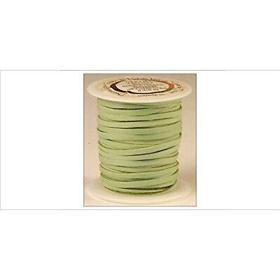 "Tandy Leather Deerskin Lace 1/8"" x 50 Ft Light Green 5067-11"