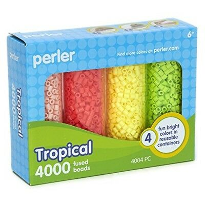 Perler Beads 80-22824 Tropical Storage Box Set - Fused Bead Tray 4000pkg 8022824
