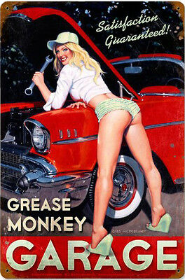 Grease Monkey Garage  Metal Sign ( Greg Hildebrandt )