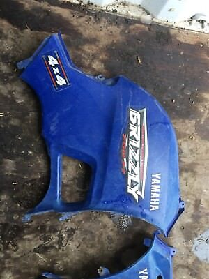 Yamaha Grizzly 550 700 Side Cover Tank Panel Shroud Engine Right Side Blue