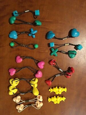 Vintage 15 Pony Tail Holders & a pair of barrettes