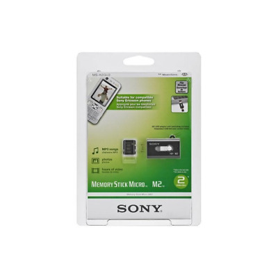 Sony 2GB Memory Stick Micro M2 Memory Card with USB Adapter
