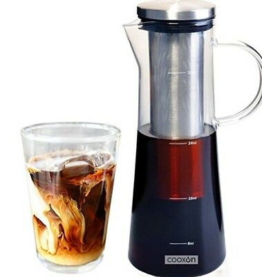 Coffee Maker and Tea Infuser Carafe from Borosilicate Glass 1L/34Oz Cold Brew