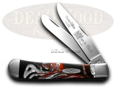 CASE Man In Black Genuine Corelon 1/500 Trapper Knives