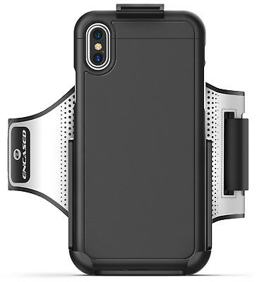 iPhone X Armband &Protective Sport Case 2pc set Click-N-Go Cover Workout Armband