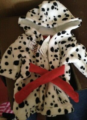 101 Dalmatian Robe /Dressing Gown Newborn BRAND NEW