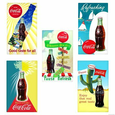 Pause Refresh Coca-Cola Bottles Summer Wall Decal Set of 5