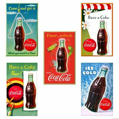 Coca-Cola Bottles Have a Coke Wall Decal Set of 5