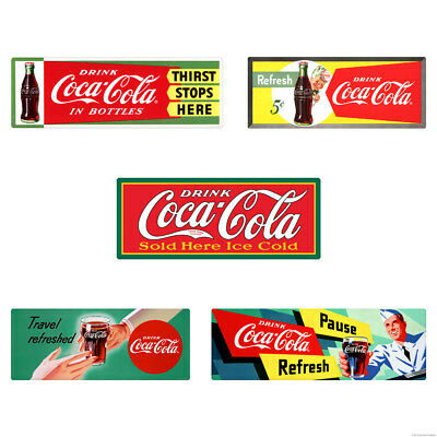 Drink Coca-Cola 1950s Soda Fountain Wall Decal Set of 5