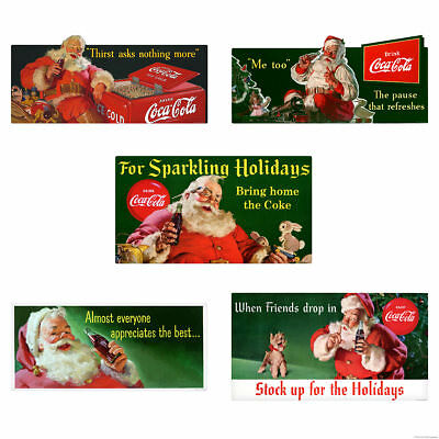 When Friends Drop In Coca-Cola Santa Holiday Wall Decal Set of 5