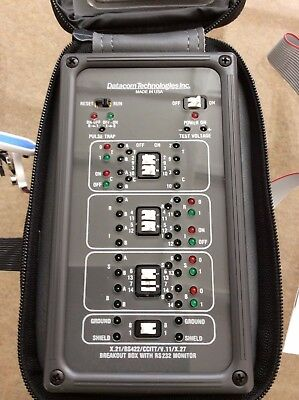 DATACOM TECHNOLOGIES BREAKOUT & ACTIVITY TESTER and RS 232 MONITOR PORT