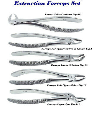 5 Dentaire Instrument Chirurgical Extrections Extraction Forceps Fig. 86 1 79 18