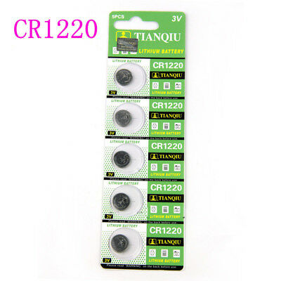 5PCS/set CR1220 3V Coin Button Batteries Cell Battery For Watch Toys Calculator