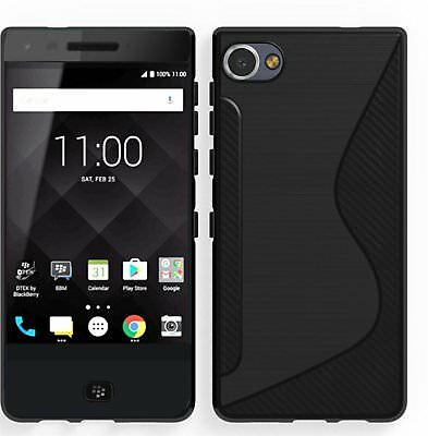 For BlackBerry Motion Case Black Soft S-Line Gel TPU Silicone Cover Skin