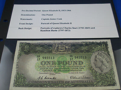 1953 One Pound - Coombs / Wilson - nice used example - Commonwealth Bank
