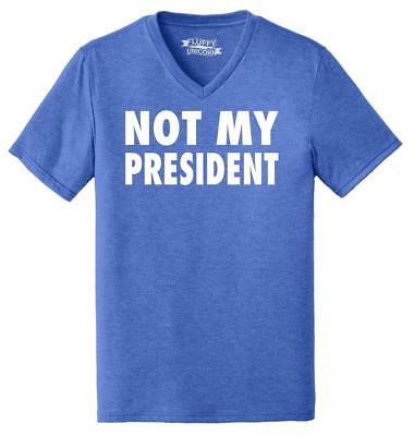 Trump Pendejo V-Neck T-Shirt Not My President Offensive Impeach Resist Tee