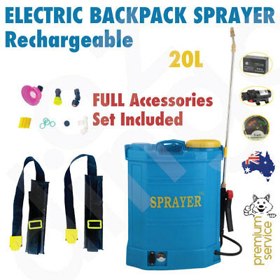 Rechargeable Garden Weed Sprayer 20L | Backpack Portable Electric Pressure Pump