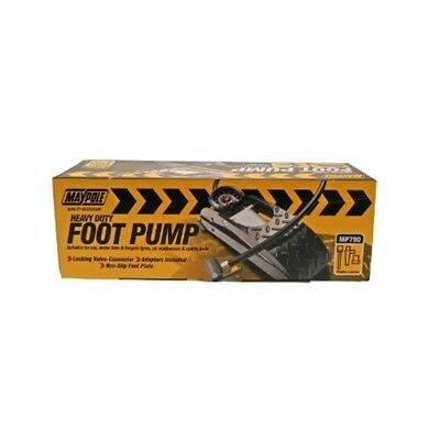 Footpump - Single Heavy Duty - Maypole Foot Pump Mp790 Gauge Barrel