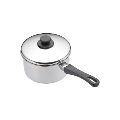 14cm Stainless Steel Extra Deep Saucepan And Lid - 14cm Kitchen Craft Same Day