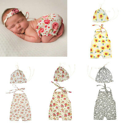 Newborn Boy Girl Baby Costume Outfits Photography Props Hat Romper Pants Set