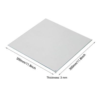 300x300x3mm Clear Borosilicate Glass Heat Bed for 3D Printers Prusa, Mendela NEW