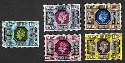 1977 Silver Jubilee SG 1033 to 1037 set Good Used