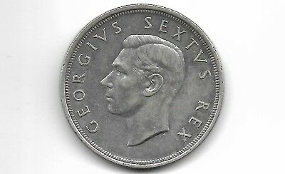 South Africa 1949 5 shillings  silver coin