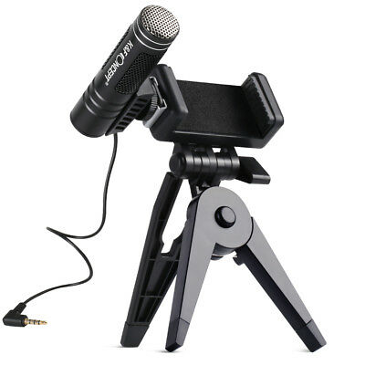 K&F Concept Cellphones Microphone Cell Phone Recording NCR 3.5mm Jack w/ Stand