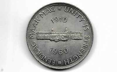 South Africa 1960 5 shilling  silver coin*