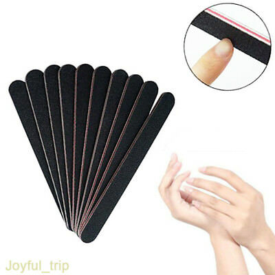 Nail Files Grit Emery Board 100/180 Black Double Sided-Frosted Red Heart