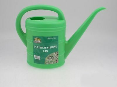 6 x Watering Cans Deluxe 1.5 Litre Green white Watering Garden Plants