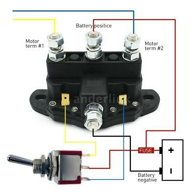Universal 12V volt Solenoid Relay Contactor Winch 6 Terminals Switch Truck motor