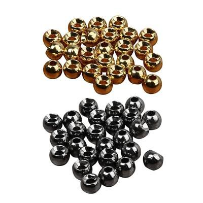 Slotted Tungsten Beads for Fly Tying - 500Pcs - Gold & Black