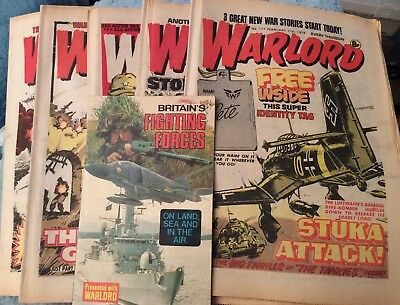 5 Vintage 'Warlord Comics' Issue # 177, 178, 179, 180, 181, (all 1978)