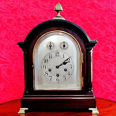 Antique Vintage Junghans Wurttemberg Bracket Mantle Clock, Westminster Chimes