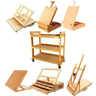 French Easel Sketch Box Tabletop Portable Folding Wooden Artist Painters