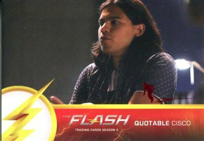 The Flash Season 2 Flash Stamped Parallel Quotable Cisco Chase Card Q02