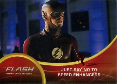 The Flash Season 2 Red Scarlet Speeder Stamped Parallel Base Card #49